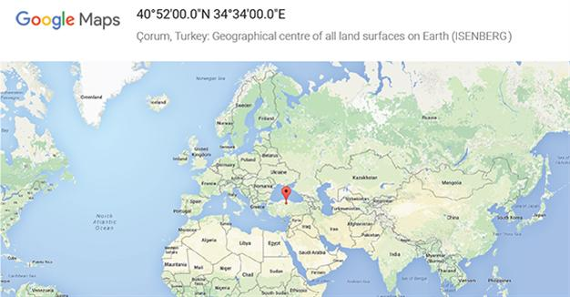 Карты Google определили Чорум центром Земли