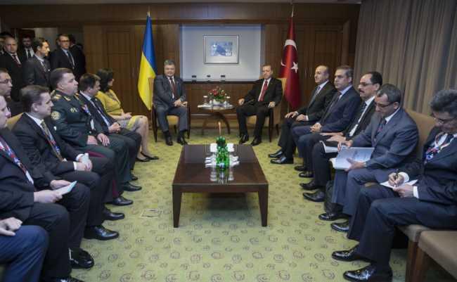 Эрдоган и Порошенко договорились о встрече в Киеве