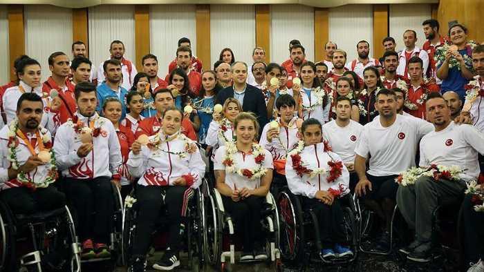 Паралимпийская сборная Турции вернулась домой героями