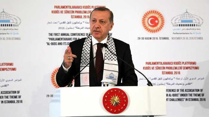 Эрдоган призвал к созданию суверенного государства Палестина