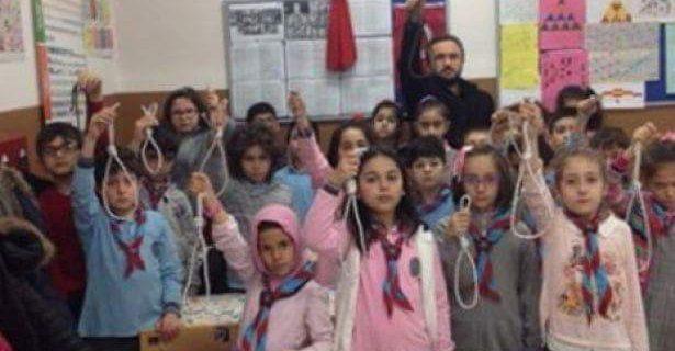 Учитель с детьми сделал «петли для террористов»