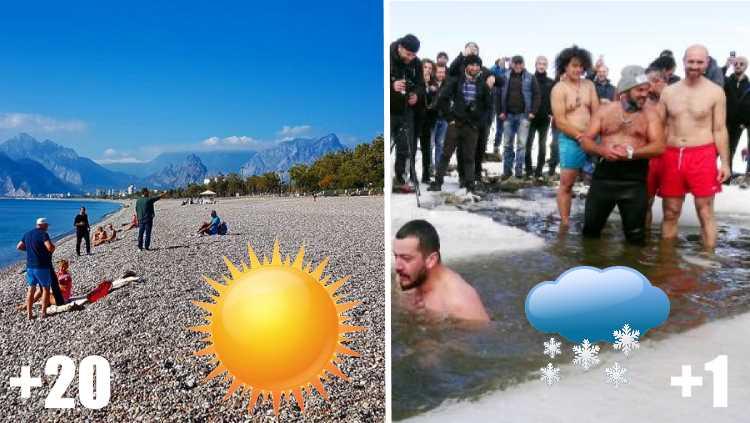 В Турции купаются и на юге, и на севере