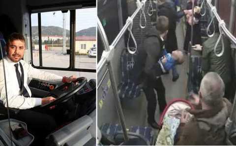 Водитель автобуса спас жизнь 10-месячному младенцу