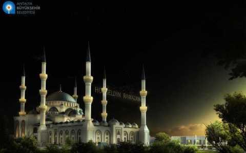 Продолжается строительство крупнейшей в Анталье мечети