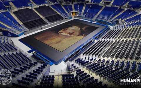 Юные спортсмены собрали огромный портрет Ататюрка