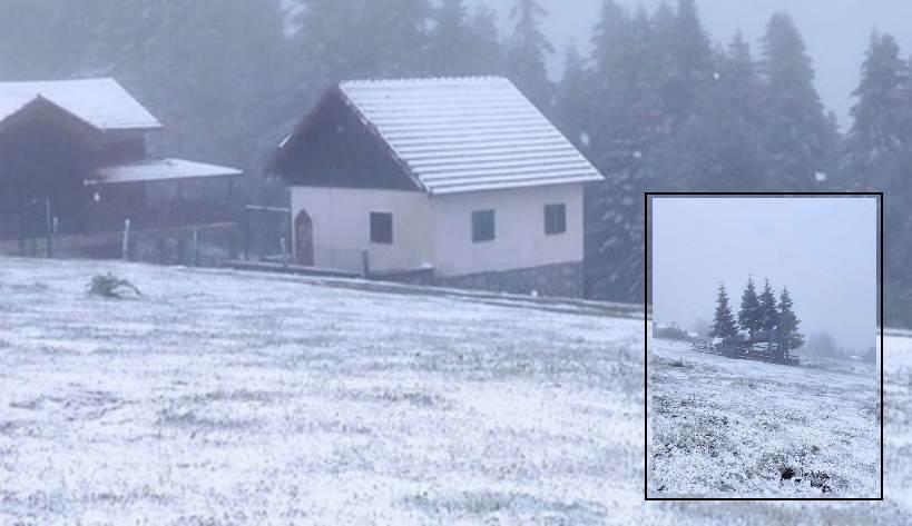 На севере Турции выпал снег