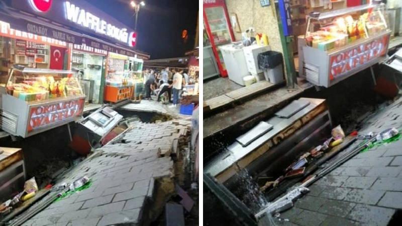 Пешеходная улица в Стамбуле ушла под землю
