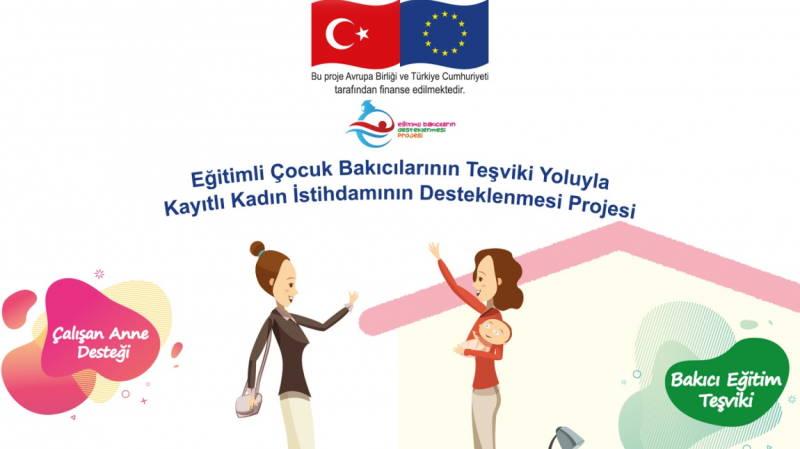 Работающим матерям Турции – по 300 евро в месяц