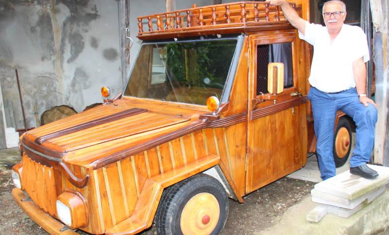 Уникальный деревянный грузовик создан в Ризе