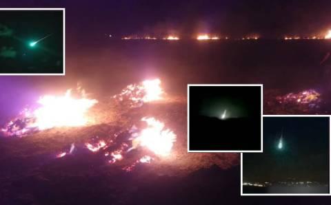 Метеорит упал на западе Турции