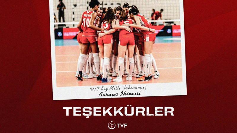 Турецкие юные волейболистки завоевали серебро ЧЕ