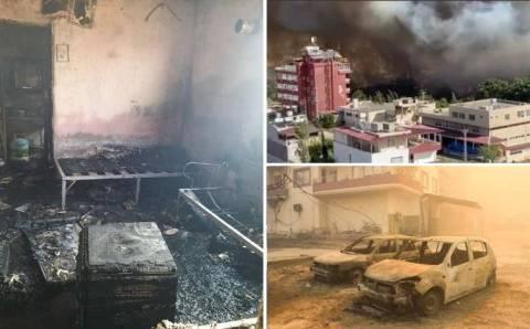 Масштабный пожар в Хатае: 4 задержанных
