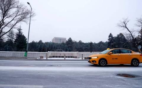 Анкара проснулась сегодня в снегу