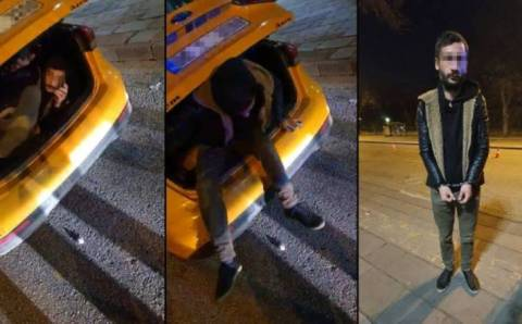Спрятался от штрафа в багажнике такси