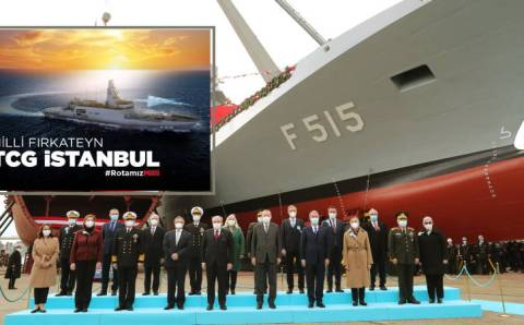 Турция спустила на воду первый отечественный фрегат