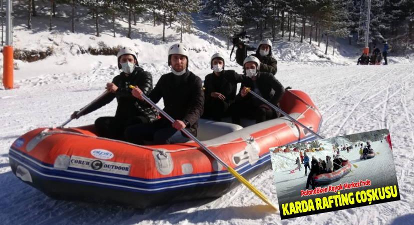 На лодке по снежным склонам Паландокена