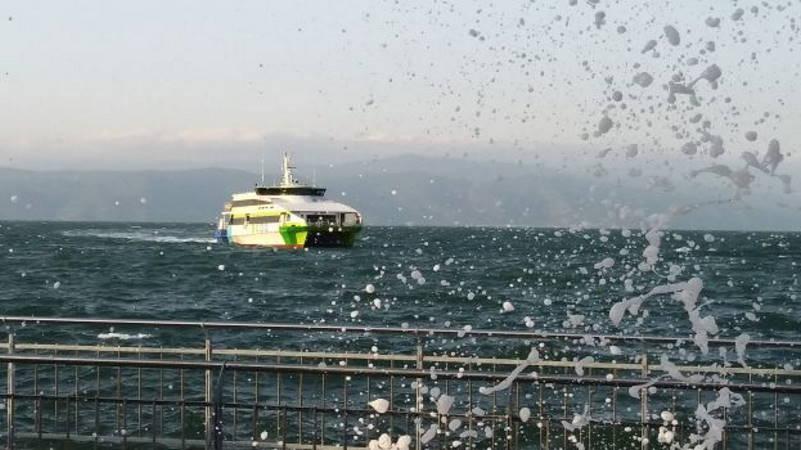 Паромы из Бурсы в Стамбул отменены из-за непогоды