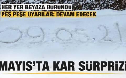 На севере Турции ждали лето, а пошел снег