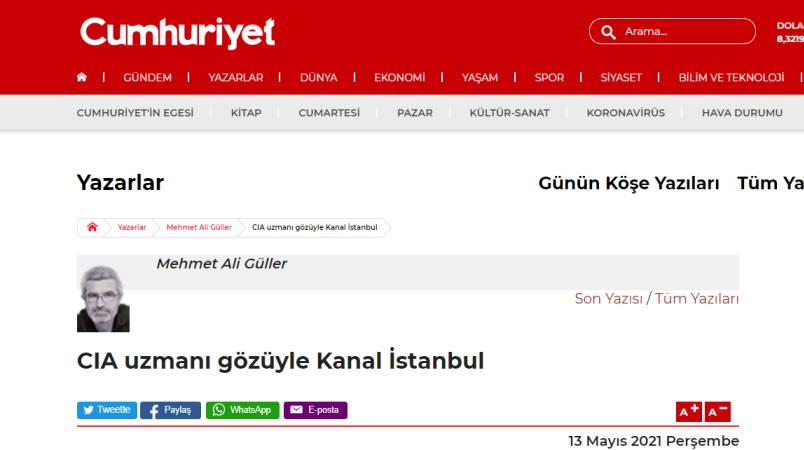 Канал Стамбул глазами эксперта ЦРУ