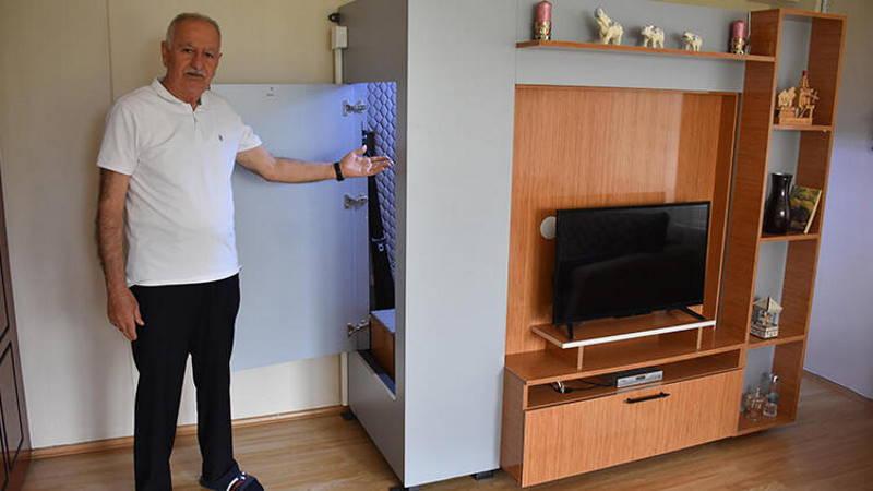 Житель Измира сделал в квартире убежище от землетрясений