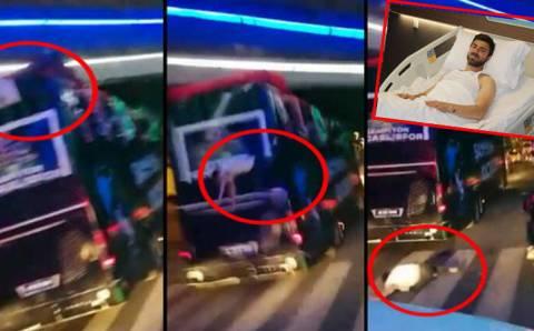 Футболист Коджаэлиспора выпал из автобуса во время празднования