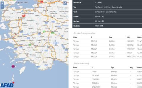 У берегов Датчи снова произошло землетрясение