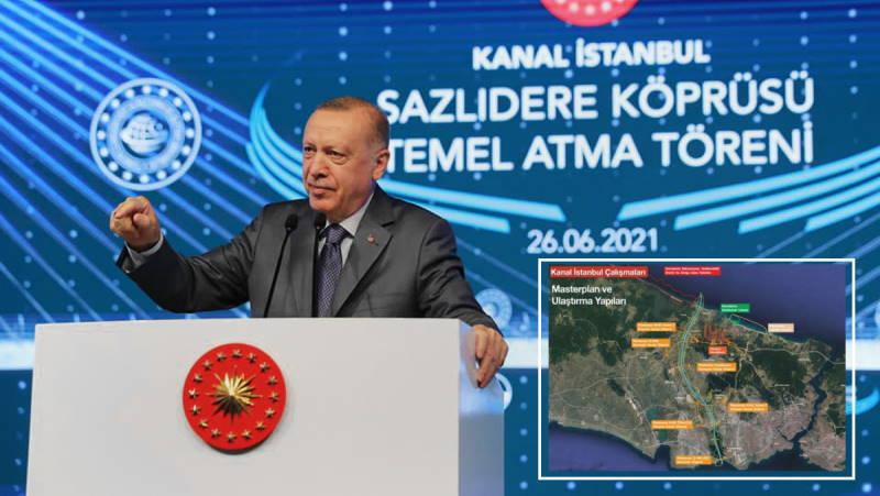 Президент Эрдоган дал старт каналу «Стамбул»
