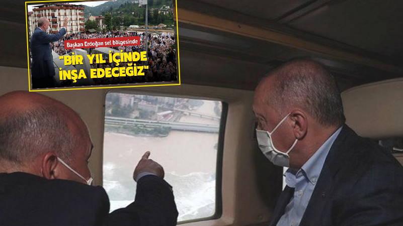 Эрдоган: Число жертв стихии в Ризе и Артвине достигло 6 человек