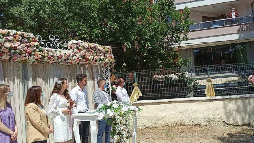 Карантин не стал помехой свадьбе