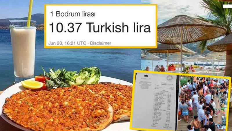 Цены в меню Бодрума снова шокируют жителей Турции