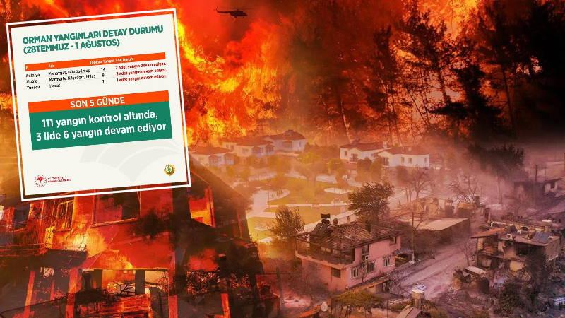 Краткая сводка: Турция 6 дней борется с пожарами