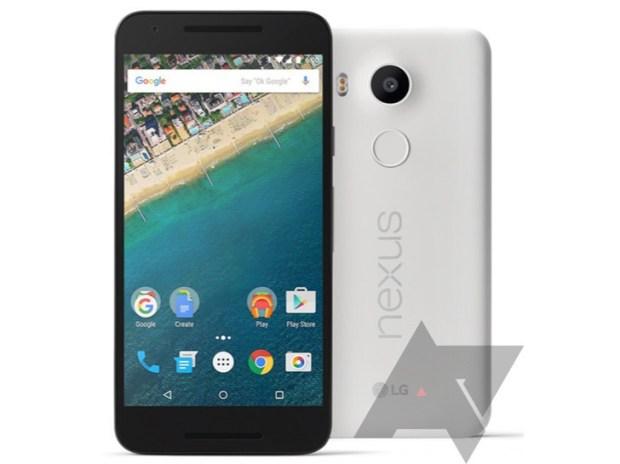 Утечка пресс-рендеры Nexus 5X от LG