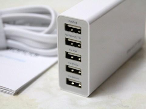 USB充電器(5ポート)を導入したらコンセントが一気にスッキリ!