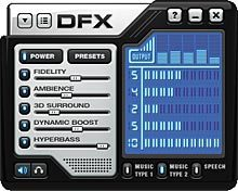 Obsidian - DFX Audio Enhance skin