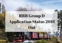 RRB Group D Application Status 2018
