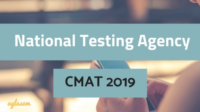 National Testing Agency CMAT 2019