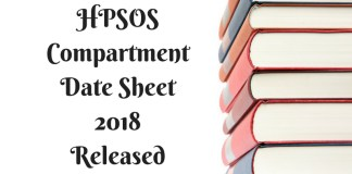 HPSOS 10th Date Sheet Sep 2018