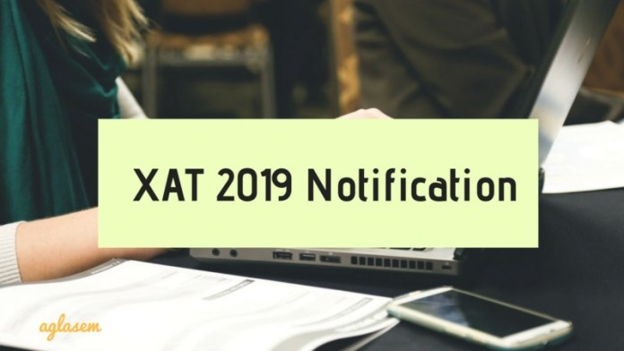 XAT 2019 Notification