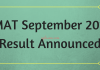 MAT September 2018 Result