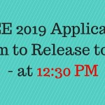 AEEE 2019 Application Form to Release Today at 12:30 pm