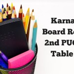 Karnataka Board Releases 2nd PUC Time Table 2019