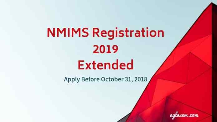 NMIMS Registration 2019 Extended