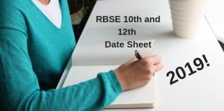 RBSE 10th and 12th Date Sheet
