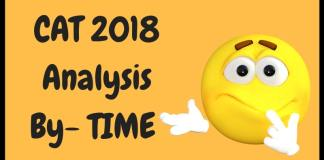 CAT 2018 Analysis By TIME
