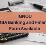 IGNOU MBA Banking and Finance