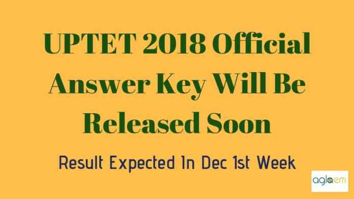 UPTET 2018 Answer Key Aglasem
