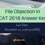 CAT 2018 Answer Key Objection Filing