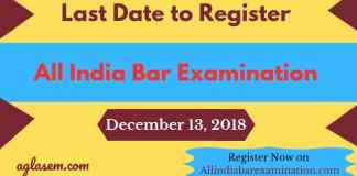 Last Date to Register for All India Bar examination