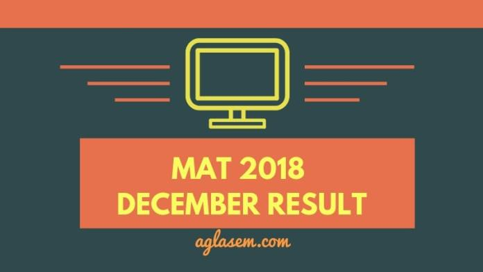MAT 2018 Result Available for December Exam