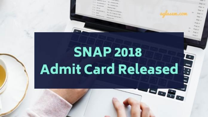 SNAP 2018 Admit Card Released